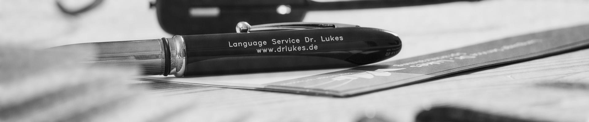Language Service Dr. Lukes